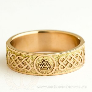 Кольцо Валькнут из золота