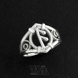 Кольцо с руной Ансуз - серебро